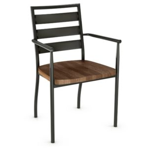 Tori Armchair (wood) ~ 30144 by Amisco