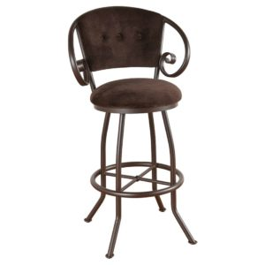 Walton Swivel Barstool w/ Arms (Upholstered Back) by Callee