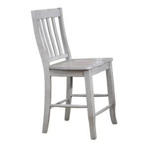 Carmel 24″ Rake Back Barstool (Gray) by Winners Only