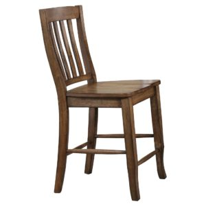 Carmel 24″ Rake Back Barstool (Rustic Brown) by Winners Only