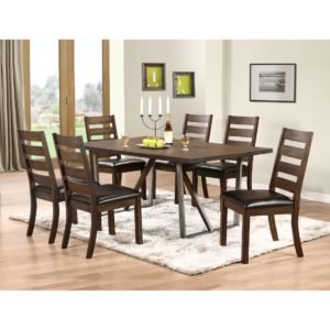 Kendall 7-Piece Dining Set (Espresso) by Winners Only