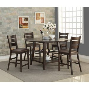 Parkside 5-Piece Tall Dining Set (Espresso) by Winners Only