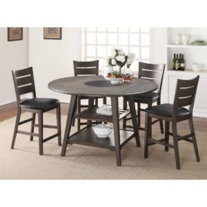Parkside 5-Piece Tall Dining Set (Grey) by Winners Only
