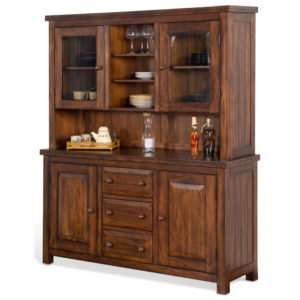 Tuscany 2-Piece China Hutch and Buffet by Sunny Designs