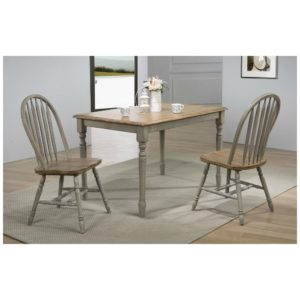 Barnwell 3-Piece Dining Set (Rustic Brown 2 / Gray 2) by Winners Only