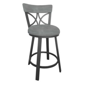 Bradley Swivel Barstool (Flintrock Grey/Grey) by Callee