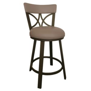 Bradley Swivel Barstool (Sun Bronze/Coffee) by Callee