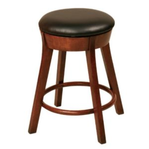 Cape Cod Backless Swivel Bar Chair by Amish Crafted by Noah Bontrager