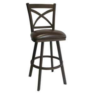 Edison Swivel Barstool (Sun Bronze/Dark Brown Walnut) by Callee