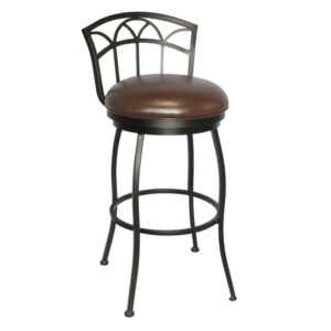 Fairview Swivel Barstool (Pebblestone/Dark Brown Walnut) by Callee