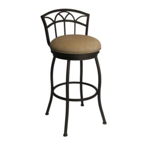 Fairview Swivel Barstool (Sun Bronze/Beige Vinyl) by Callee
