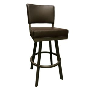 Malibu Swivel Barstool (Sun Bronze/Dark Brown Walnut) by Callee