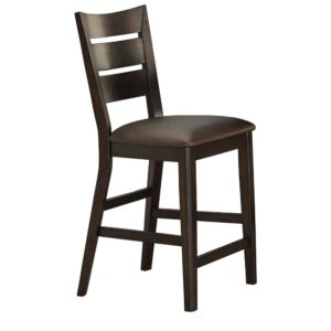 Parkside 24″ Ladder Back Barstool (Espresso) by Winners Only
