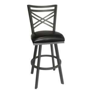 Rebecca Swivel Barstool (Flintrock Grey/Black) by Callee