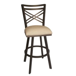 Rebecca Swivel Barstool (Sun Bronze/Beige) by Callee