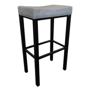 Soho Barstool (Matte Black/Light Grey) by Callee