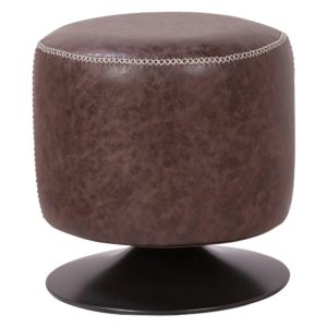 Gaia Swivel Vanity (Vintage Coffee Brown) by New Pacific Direct