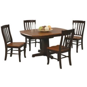 Quails Run 5-Piece Dining Set (Chestnut/Espresso) by Winners Only