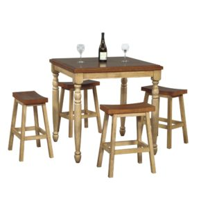 Quails Run 5-Piece Tall Dining Set (Almond/Wheat) by Winners Only