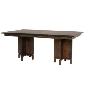 Soma Double Pedestal Table by Amish Crafted by Noah Bontrager