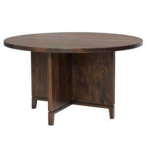 Soma Pedestal Table by Amish Crafted by Noah Bontrager