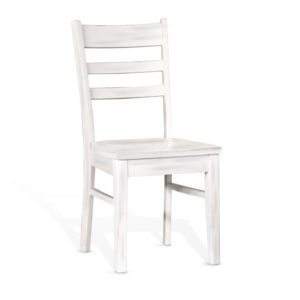 Bayside Ladderback Chair with Wood Seat by Sunny Designs