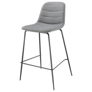 Caleb KD Fabric 36″ Counter Stool (Penta Gray) by New Pacific Direct