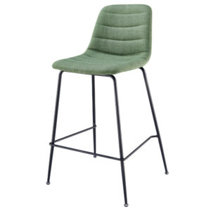 Caleb KD Fabric Counter Stool (Penta Green) by New Pacific Direct
