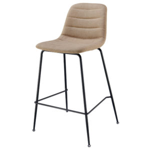 Caleb KD Fabric Counter Stool (Penta Linen) by New Pacific Direct