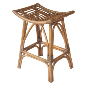 Imari Rattan Counter Stool (Canary Brown Black Washed) by New Pacific Direct