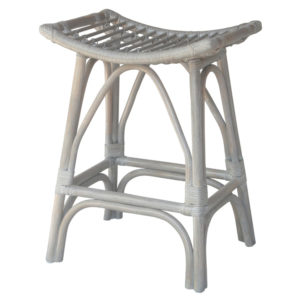Imari Rattan Counter Stool (Gray White Washed) by New Pacific Direct