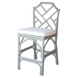 Kara Rattan Counter Stool (Gray) by New Pacific Direct