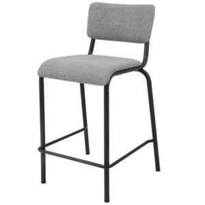 Lehman Fabric 26″ Counter Stool (Penta Gray) by New Pacific Direct