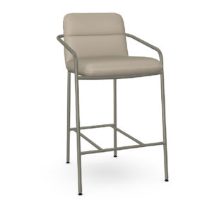Milanos 11 Non Swivel Stool Upholstered Seat and Backrest with Metal Armrests by Amisco