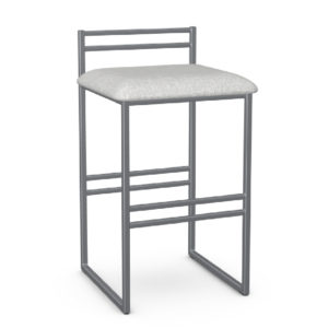 Sonoma 8 Non Swivel Stool Upholstered Seat and Metal Backrest by Amisco