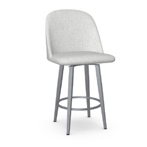 Zahra 10 Swivel Stool (without memory return) Upholstered Seat and Backrest by Amisco