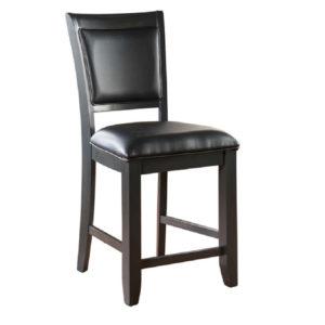 Archie 24″ Upholstered Back Counter Stool (Ebony)