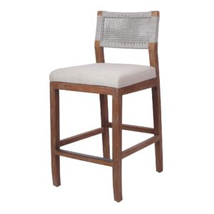 Pierre Rope Counter Stool (Gray) by New Pacific Direct