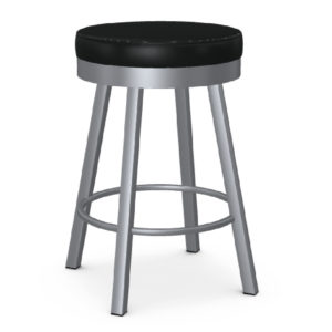 Rudy Swivel Cushion Stool (Magnetite/Licorice) ~ 42442 by Amisco