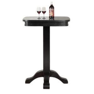 Tova 28″ Square Pub Table (Ebony)