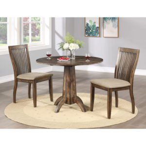Zoey Solid Hardwood 3-Piece Dining Set by Winners Only