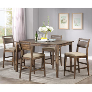 Zoey Solid Hardwood 5-Piece Counter Height/Pub Table Set by Winners Only