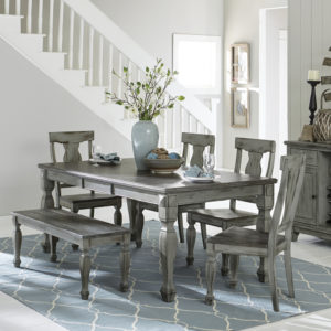 Fulton 6-Piece Solid Wood Dining Set