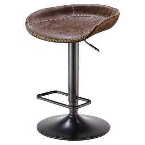 Roger Adjustable Barstool (Vintage Coffee Brown) by New Pacific Direct