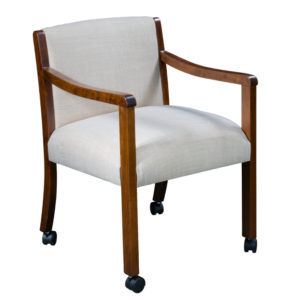 Bollingbrook Upholstered Caster Chair by Amish Crafted by Noah Bontrager