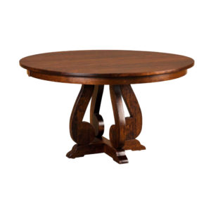 Burwick Single Pedestal Table by Amish Crafted by Noah Bontrager