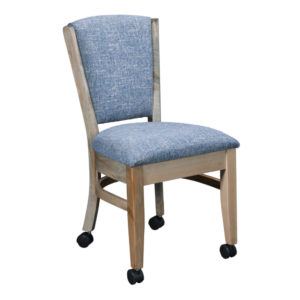 Cheyenne Upholstered Caster Chair by Amish Crafted by Noah Bontrager