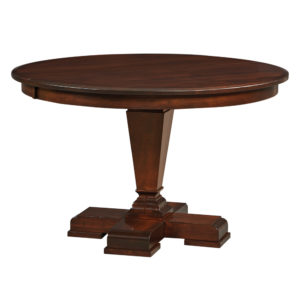Fulton Single Pedestal Table by Amish Crafted by Noah Bontrager