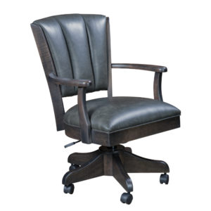 Livonia Channel Back Caster Chair with Arms by Amish Crafted by Noah Bontrager