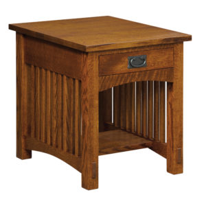 Bungalow Mission 1 Drawer End Table by Amish Crafted by Noah Bontrager